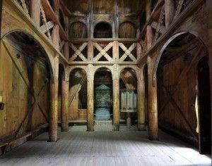 Interior din Biserica Borgund