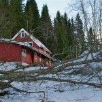Furtuna a lovit din nou, drept in inima Norvegiei (video)