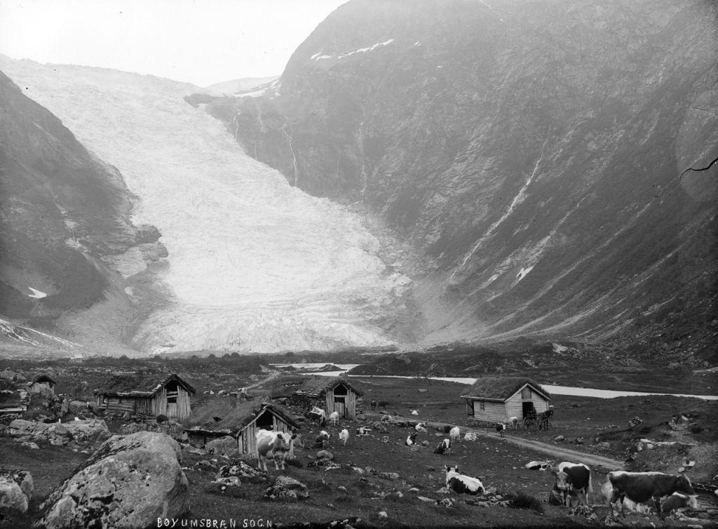 Ghețarul Bøyabreen, Fjærland - Sognefjord. 1900