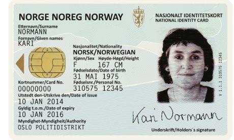 Studioul Neue a realizat și  designul cărților de identitate din Norvegia, care de asemenea a fost gândit în legătură cu peisajele din această țară
