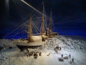 Macheta navei Fram, captivă în ghețuri