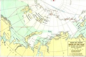 Traseul primei expediții a navei fram