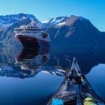 Călătorie la bordul unui caiac prin fiordurile Norvegiei-GALERIE FOTO