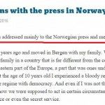 What happens with the press in Norway?