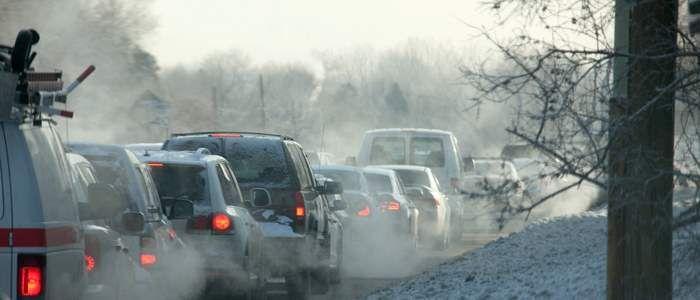 O zi cu un trafic excesiv, in plina iarna, in Oslo