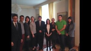 Ambasadorul Adrian Davidoiu la întâlnirea cu